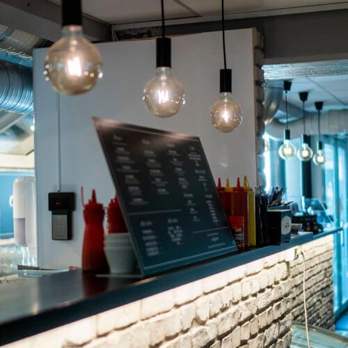 Kafé i området